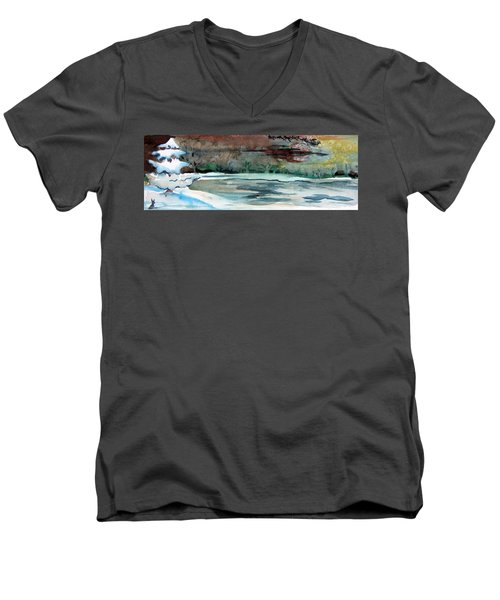 Midnight Rider Men's V-Neck T-Shirt by Mindy Newman