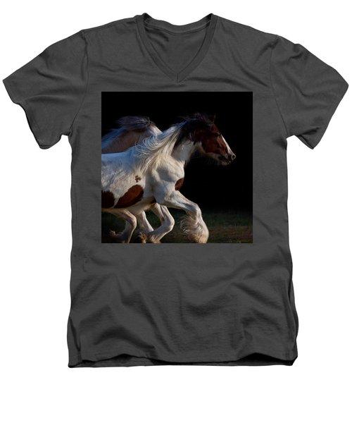 Midnight Run Men's V-Neck T-Shirt by Sharon Jones