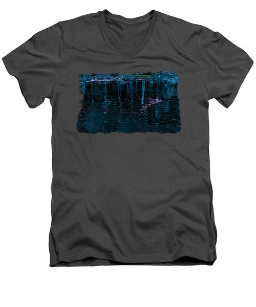 Midnight Spring Men's V-Neck T-Shirt by John M Bailey