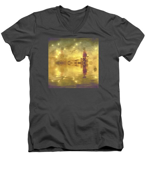 Midnight Treasure I Men's V-Neck T-Shirt