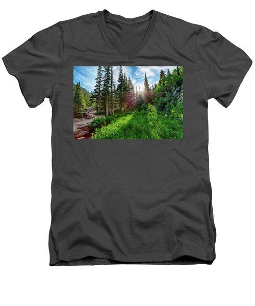Men's V-Neck T-Shirt featuring the photograph Midsummer Dream by David Chandler