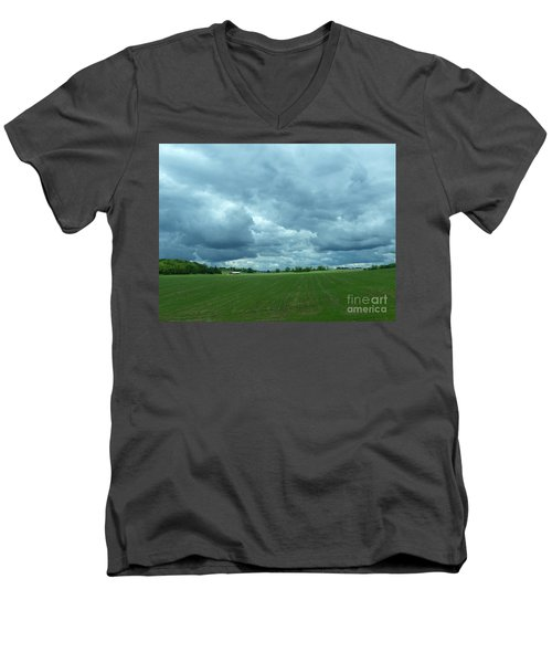 Midwestern Sky Men's V-Neck T-Shirt