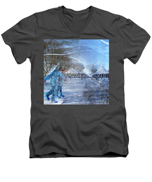 Midwinter Blues Men's V-Neck T-Shirt