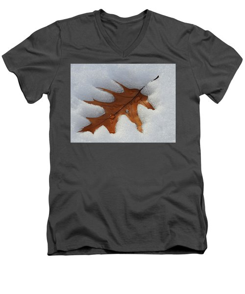 Mighty Oak Men's V-Neck T-Shirt by Betty-Anne McDonald