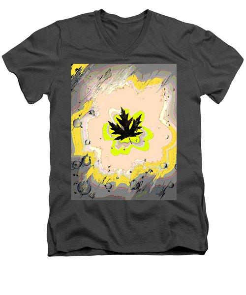 Mighty Oak Men's V-Neck T-Shirt by Desline Vitto