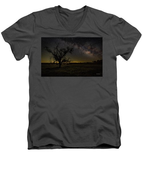 Miily Way In A Late Spring Sky Men's V-Neck T-Shirt