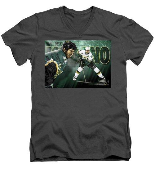 Mike Modano Men's V-Neck T-Shirt by Don Olea