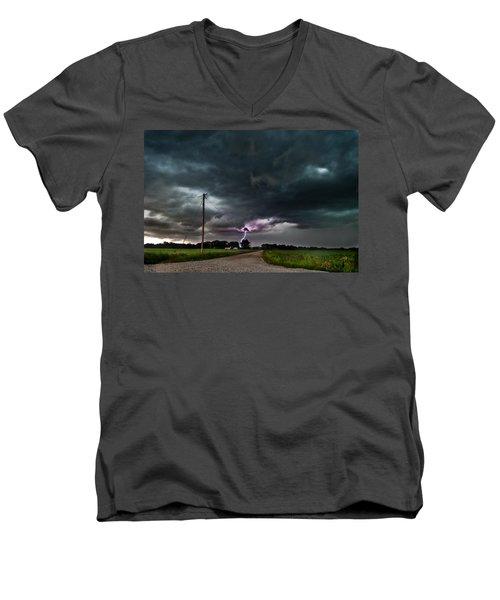 Mikey's Lightning  Men's V-Neck T-Shirt