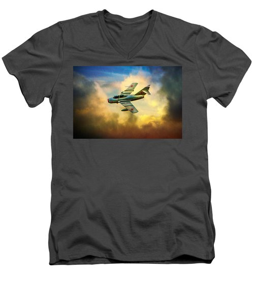 Mikoyan-gurevich Mig-15uti Men's V-Neck T-Shirt