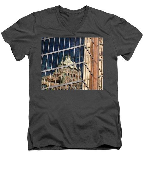 Miksang 9 City Men's V-Neck T-Shirt by Theresa Tahara