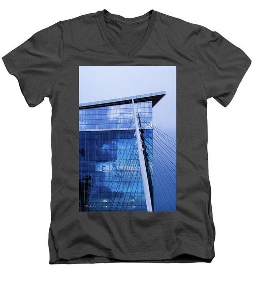 Milennium Bridge Spire Men's V-Neck T-Shirt