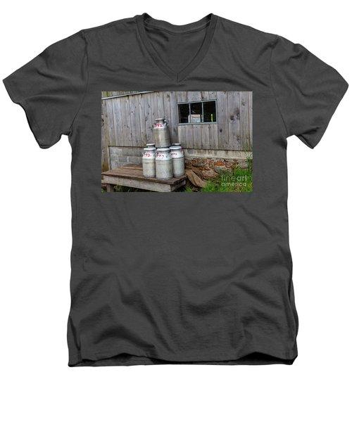 Milk Cans Men's V-Neck T-Shirt