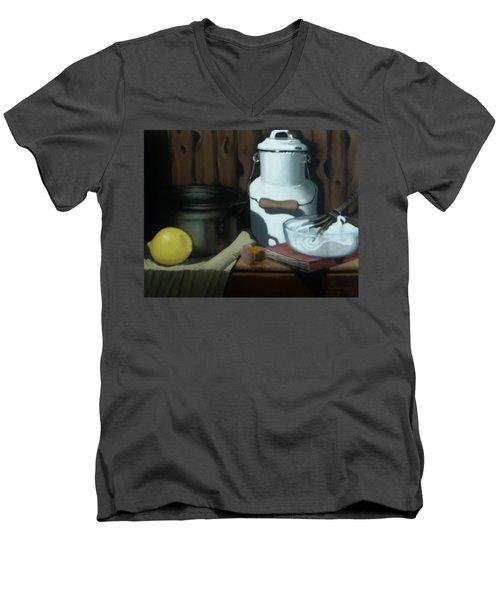 Milk Jug Meringue Men's V-Neck T-Shirt by Susan Roberts