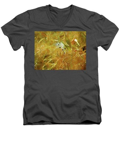 Milkweed In Sunlight 2 Men's V-Neck T-Shirt
