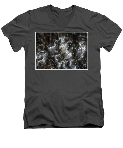 Milkweed Plant Dried Seeds  Men's V-Neck T-Shirt