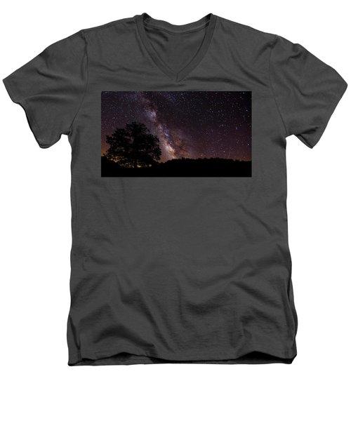 Milky Way And The Tree Men's V-Neck T-Shirt