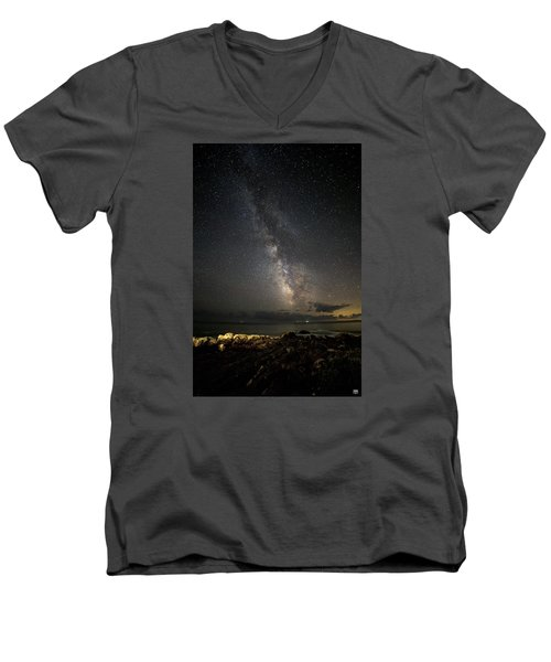 Milky Way At Pemaquid Men's V-Neck T-Shirt