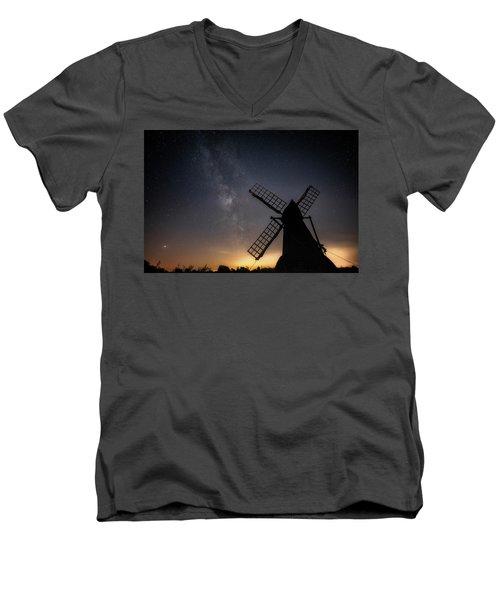 Milky Way At Wicken Men's V-Neck T-Shirt