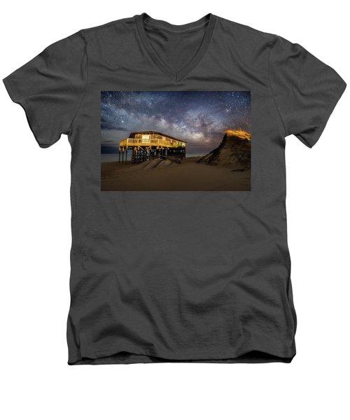 Milky Way Beach House Men's V-Neck T-Shirt
