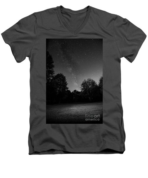 Men's V-Neck T-Shirt featuring the photograph Milky Way by Brian Jones