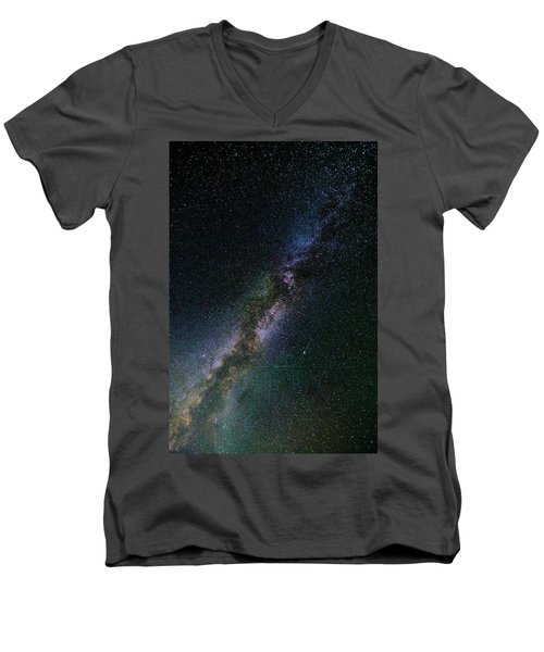 Men's V-Neck T-Shirt featuring the photograph Milky Way Core by Bryan Carter