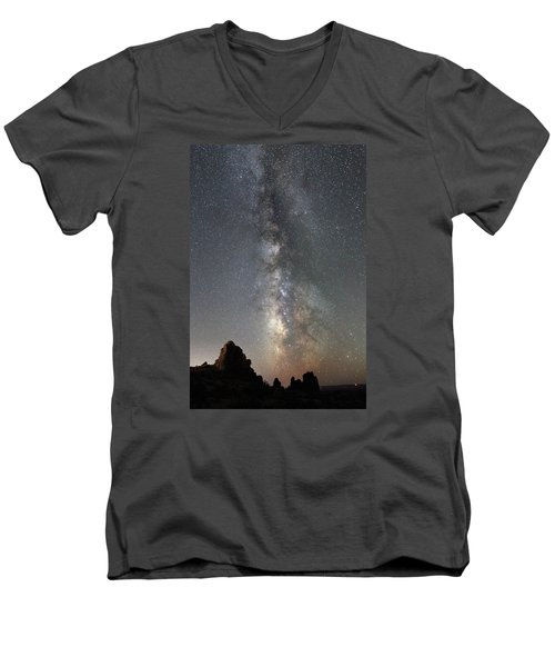 Milky Way Over Arches Np  One Men's V-Neck T-Shirt