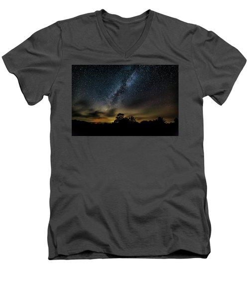 Milky Way Over The Blue Ridge Men's V-Neck T-Shirt