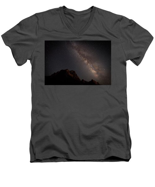 Milky Way Over Zion Men's V-Neck T-Shirt