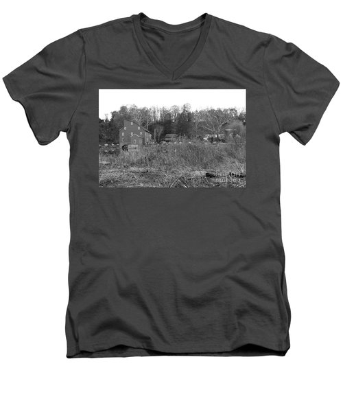 Mill At Clinton Among The Reeds Men's V-Neck T-Shirt
