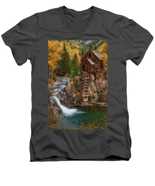 Mill In The Mountains Men's V-Neck T-Shirt