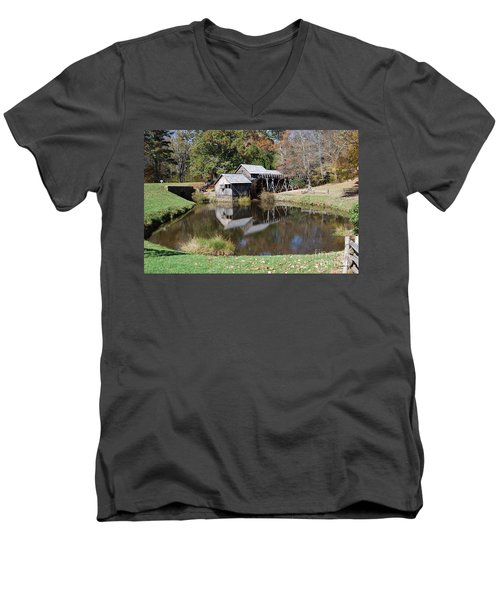 Mill Reflections Men's V-Neck T-Shirt by Eric Liller