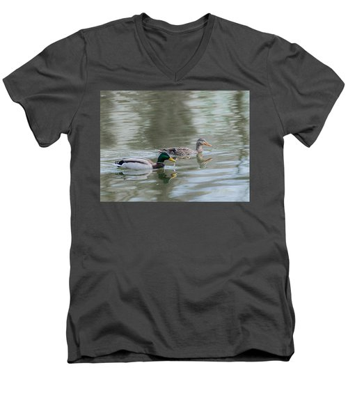 Men's V-Neck T-Shirt featuring the photograph Millard Family by Edward Peterson
