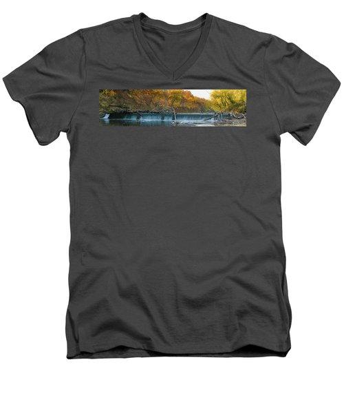 Miller's Dam Pano Men's V-Neck T-Shirt