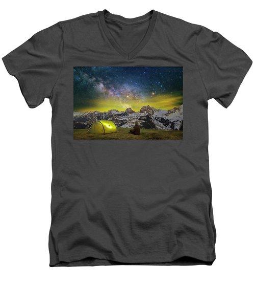 Million Star Hotel Men's V-Neck T-Shirt