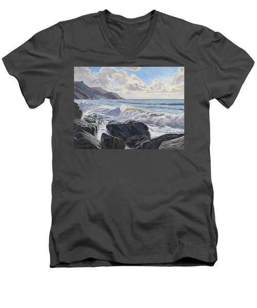 Millook Haven Men's V-Neck T-Shirt