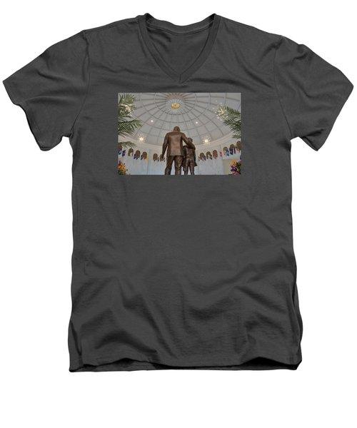 Milton Hershey And The Boy Men's V-Neck T-Shirt by Mark Dodd