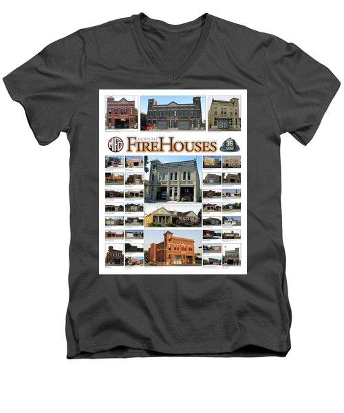 Milwaukee Fire Houses Men's V-Neck T-Shirt
