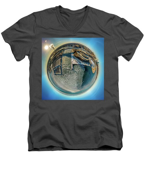 Milwaukee Pierhead Light Little Planet Men's V-Neck T-Shirt