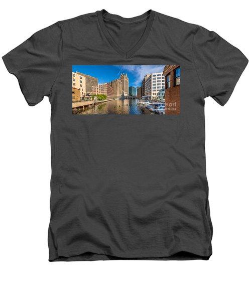 Milwaukee Summer Nights Men's V-Neck T-Shirt