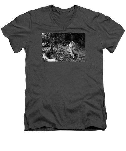 Mimic Men's V-Neck T-Shirt by David Stasiak