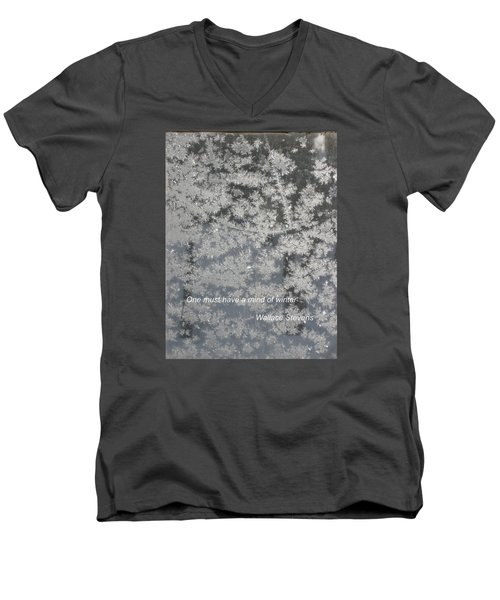 Mind Of Winter Men's V-Neck T-Shirt by Deborah Dendler