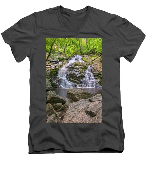 Mineral Springs Vertical Men's V-Neck T-Shirt by Angelo Marcialis