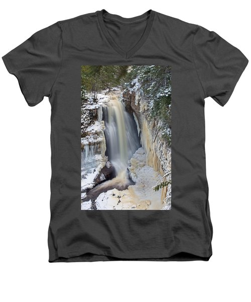 Miners Falls In The Snow Men's V-Neck T-Shirt