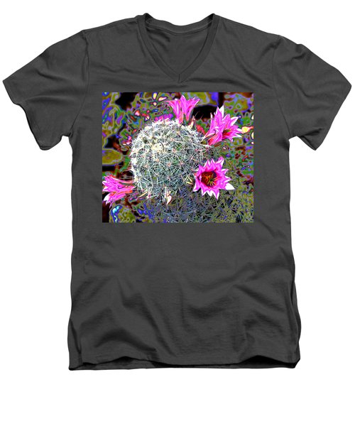 Mini Cactus Men's V-Neck T-Shirt by M Diane Bonaparte