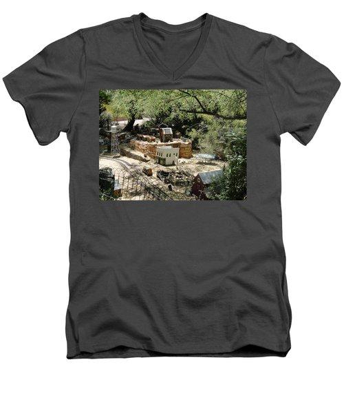 Mini Town Men's V-Neck T-Shirt