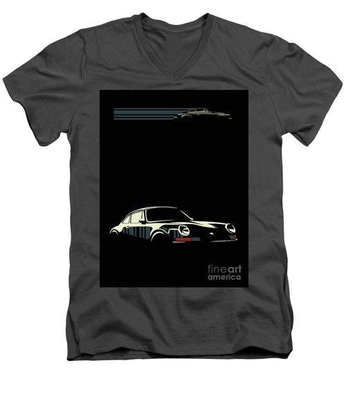 Minimalist Porsche Men's V-Neck T-Shirt