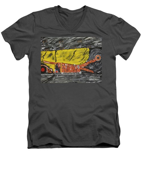 Coal Mining  Men's V-Neck T-Shirt