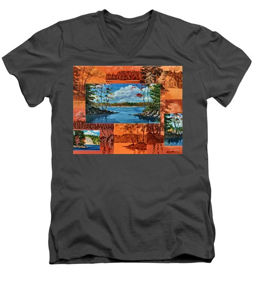 Mink Lake Looking North West Men's V-Neck T-Shirt