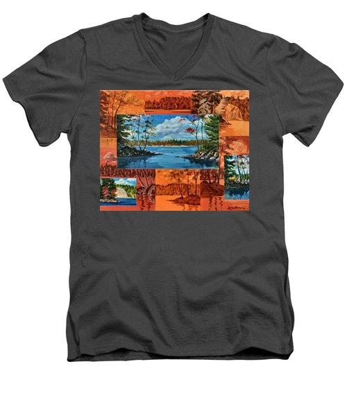 Mink Lake Looking North West Men's V-Neck T-Shirt