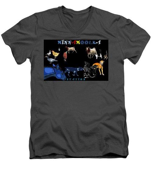 Minnamoolka Station Men's V-Neck T-Shirt